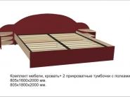 Комплект мебели (кровать + тумбочки)