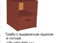 Тумба с выдвижным ящиком и полкой